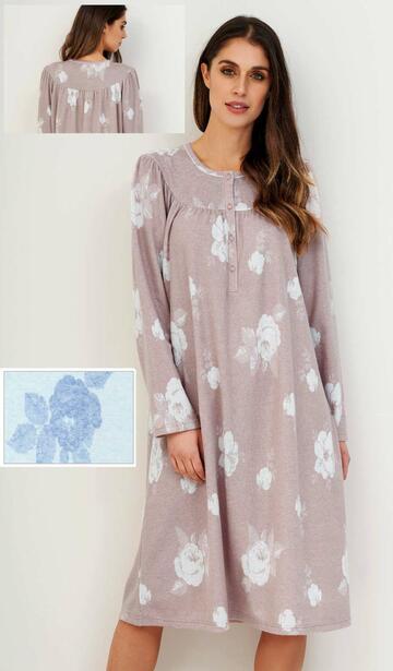 Camicia da notte in caldo cotone lanato Linclalor 77628 - CIAM Centro Ingrosso Abbigliamento