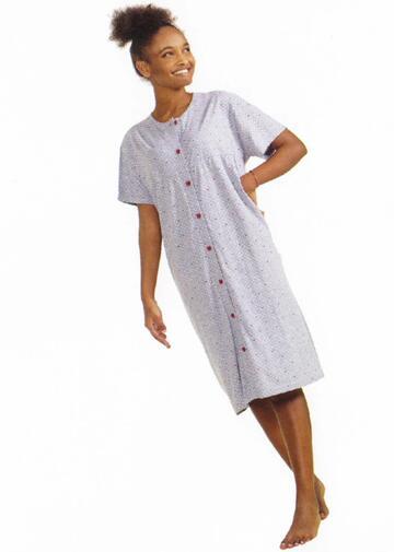 Camicia da notte donna CLINICA a manica corta StellaDueG 8128 - CIAM Centro Ingrosso Abbigliamento