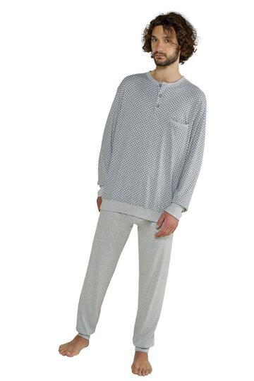 Pigiama uomo cotone caldo StellaDueGi U8346 - CIAM Centro Ingrosso Abbigliamento