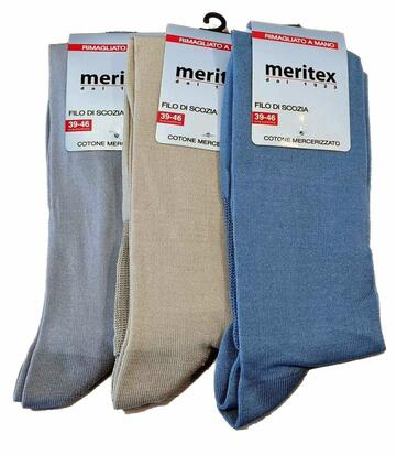Calzettone uomo LUNGO in filo elasticizzato Meritex 8700 (tri-pack) - CIAM Centro Ingrosso Abbigliamento