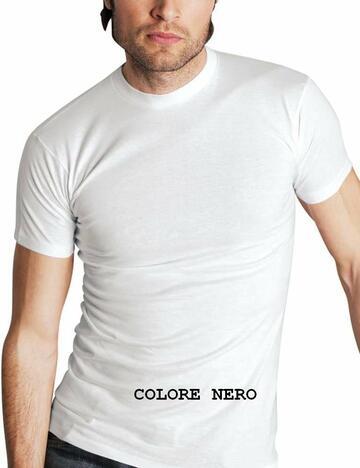 T-shirt uomo girocollo a manica corta Moretta art. 87 Tg.8 Nero - CIAM Centro Ingrosso Abbigliamento