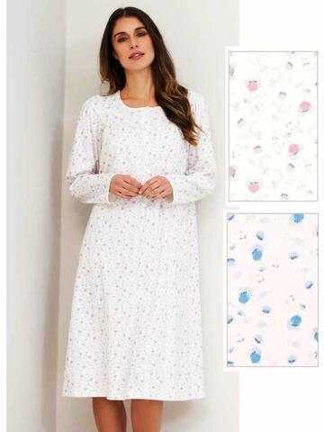 Camicia da notte donna in caldo cotone Linclalor 92622 Tg.44/60 - CIAM Centro Ingrosso Abbigliamento
