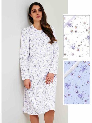 Camicia da notte donna in caldo cotone Linclalor 92634 - CIAM Centro Ingrosso Abbigliamento