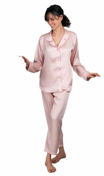 Pigiama donna aperto in raso setificato Silvia 9990 - CIAM Centro Ingrosso Abbigliamento