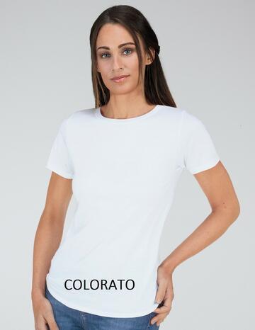 T-SHIRT DONNA JERSEY COTONE ANTONELLA NEWDIMENSION 86025C COLORATA - CIAM Centro Ingrosso Abbigliamento