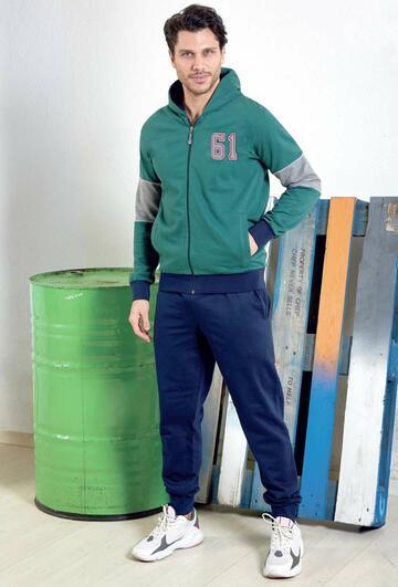 Tuta uomo in felpa di cotone con zip e cappuccio Navigare B228335 - CIAM Centro Ingrosso Abbigliamento