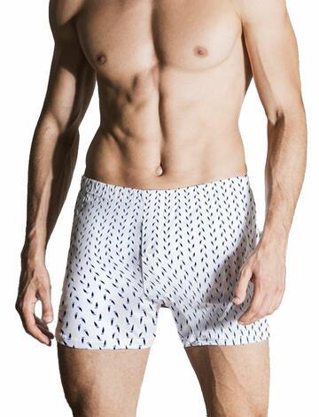 Boxer uomo in filo di Scozia Nottingham B416 Tg.9/10 Fondo bianco - CIAM Centro Ingrosso Abbigliamento