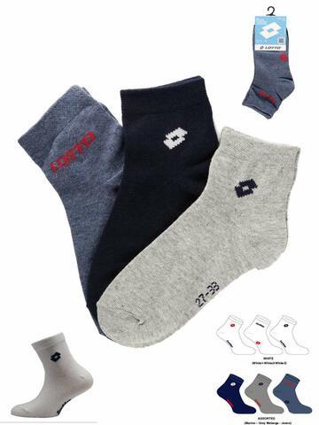 Calzino corto bambino Lotto BR86 ( 3 PAIA) - CIAM Centro Ingrosso Abbigliamento