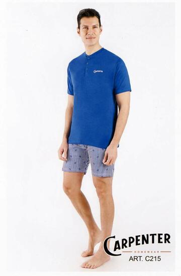 Pigiama uomo corto in cotone Carpenter C215 - CIAM Centro Ingrosso Abbigliamento