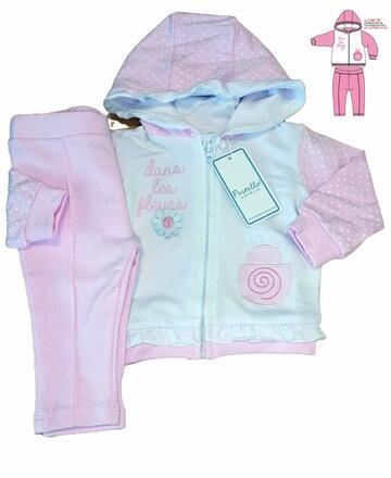 Completo da neonatain cotone garzato Pastello CAF5Y - CIAM Centro Ingrosso Abbigliamento