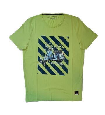 T-SHIRT UOMO A MANICHE CORTE STAMPATA CB93119 CRANBERRY - CIAM Centro Ingrosso Abbigliamento