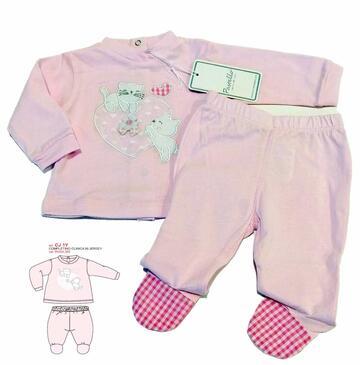 Completo neonato clinica in cotone Pastello CJ1Y - CIAM Centro Ingrosso Abbigliamento