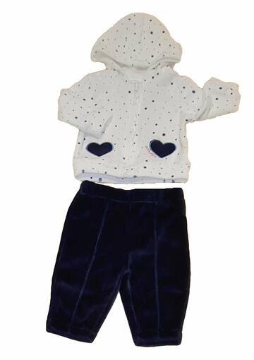 Completo in ciniglia neonato Pastello CS3Z - CIAM Centro Ingrosso Abbigliamento