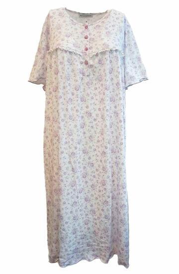 Camicia da notte donna a manica corta in jersey di cotone Fiorenza Amadori Classica MM - CIAM Centro Ingrosso Abbigliamento