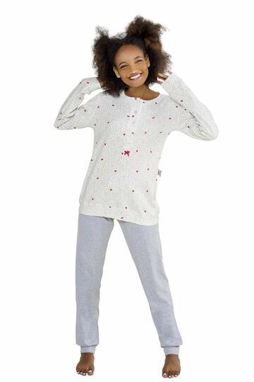 Pigiama donna in cotone caldo StellaDueGi D8270 - CIAM Centro Ingrosso Abbigliamento