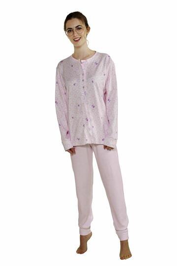 Pigiama donna in cotone caldo StellaDueGi D8283 - CIAM Centro Ingrosso Abbigliamento