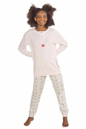 Pigiama donna in caldo cotone StellaDueGi D8296 - CIAM Centro Ingrosso Abbigliamento