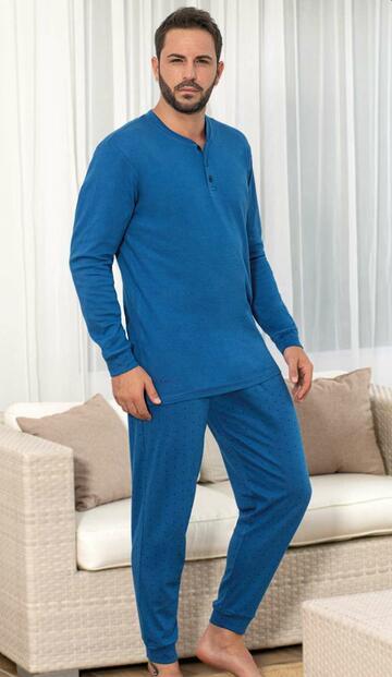 Pigiama uomo in cotone caldo De Fonseca DPU300 - CIAM Centro Ingrosso Abbigliamento