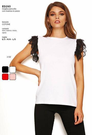 Maglia donna sottogiacca in cotone Rosso Porpora ED293 - CIAM Centro Ingrosso Abbigliamento