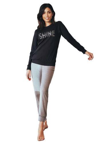 Pigiama homewear donna in cotone caldo Intimami ID797 - CIAM Centro Ingrosso Abbigliamento