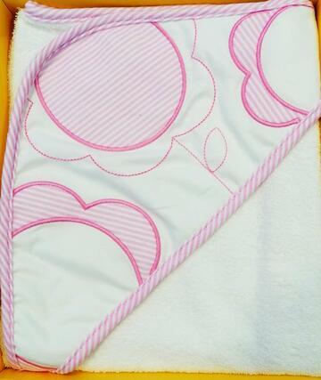 Accapatoio neonato a triangolo in spugna Ellepi AB4239 - CIAM Centro Ingrosso Abbigliamento