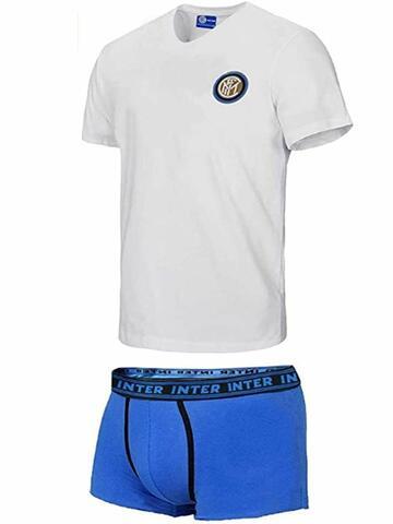 Completo uomo con t-shirt e boxer Inter B2IN11055 - CIAM Centro Ingrosso Abbigliamento
