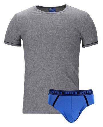 Completo uomo con t-shirt e slip Inter B2IN11056 - CIAM Centro Ingrosso Abbigliamento
