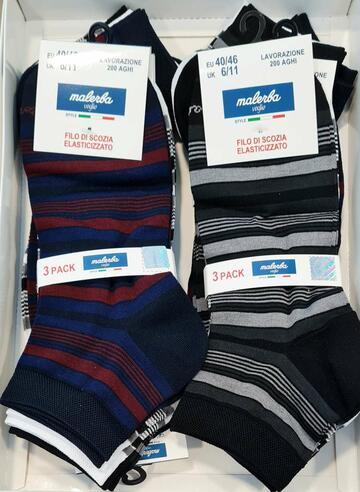 Calzino corto quarteruomo in cotone elasticizzato Malerba ING.E.11 - CIAM Centro Ingrosso Abbigliamento