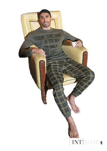 Pigiama homewear uomo in cotone felpato Intimami IU221 - CIAM Centro Ingrosso Abbigliamento