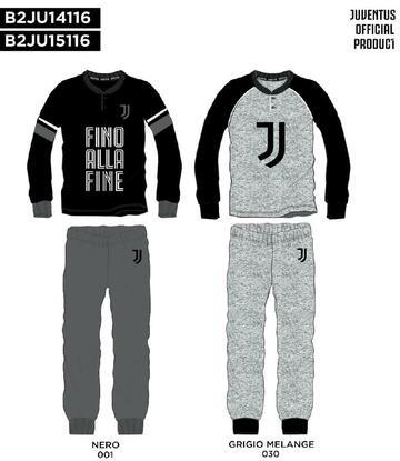 Pigiama uomo in cotone caldo Juventus JU14116 - CIAM Centro Ingrosso Abbigliamento