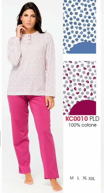 Pigiama donna in cotone fantasia Karelpiu' KC0010 - CIAM Centro Ingrosso Abbigliamento