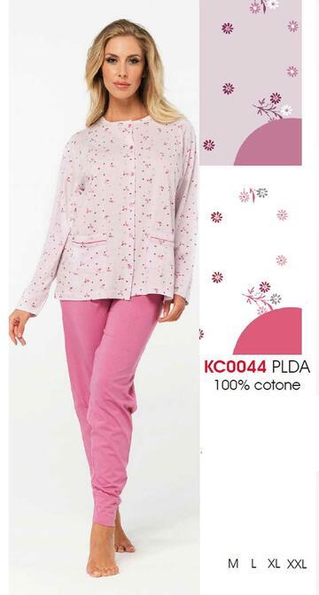 Pigiama donna aperto in cotone Karelpiu' KC0044 - CIAM Centro Ingrosso Abbigliamento