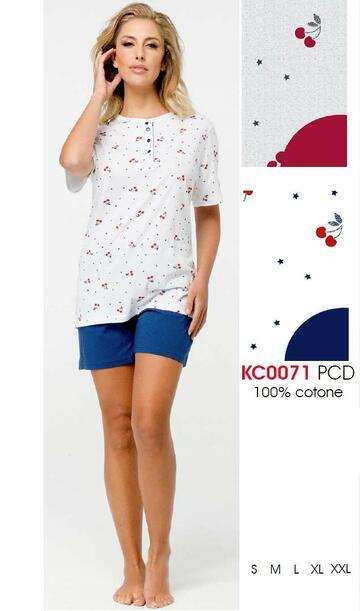 Pigiama donna a manica corta in cotone Karelpiu' KC0071 - CIAM Centro Ingrosso Abbigliamento