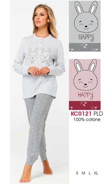 Pigiama donna in cotone Karelpiu' KC0121 - CIAM Centro Ingrosso Abbigliamento