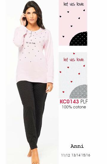Pigiama da ragazza a manica lunga in cotone Karelpiu' KC0143 - CIAM Centro Ingrosso Abbigliamento