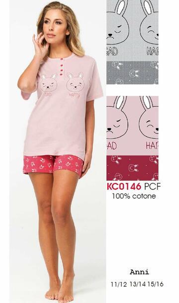 Pigiama ragazza a manica corta in cotone Karelpiu' KC0146 - CIAM Centro Ingrosso Abbigliamento