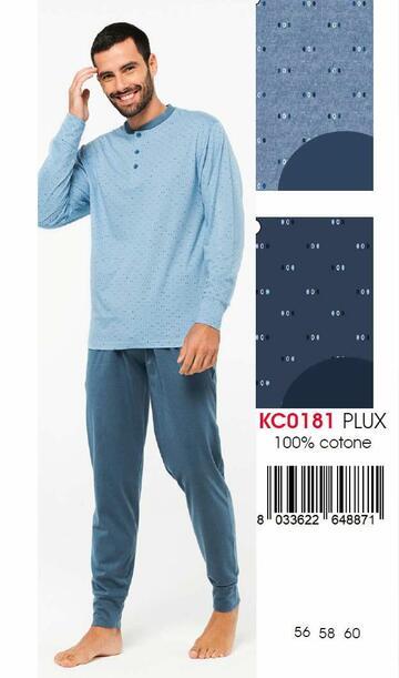 Pigiama uomo CALIBRATO in cotone Karelpiu' KC0181 - CIAM Centro Ingrosso Abbigliamento