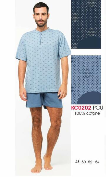 Pigiama uomo corto in cotone Karelpiu' KC0202 - CIAM Centro Ingrosso Abbigliamento