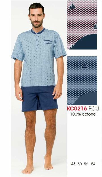 Pigiama uomo corto in cotone Karelpiu' KC0216 - CIAM Centro Ingrosso Abbigliamento