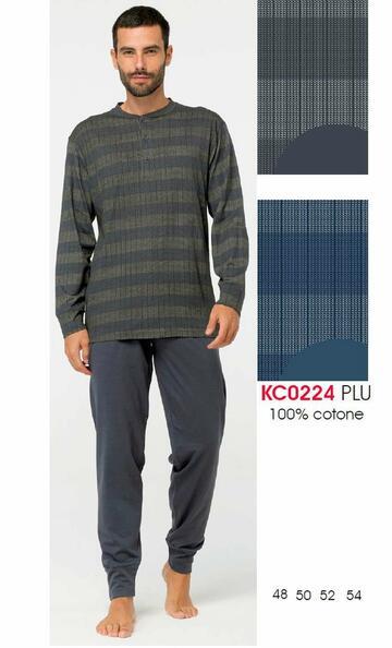 Pigiama uomo in cotone manica lunga Karelpiu' KC0224 - CIAM Centro Ingrosso Abbigliamento