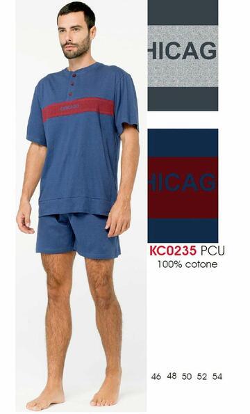 Pigiama uomo corto in cotone Karelpiu' KC0235 - CIAM Centro Ingrosso Abbigliamento