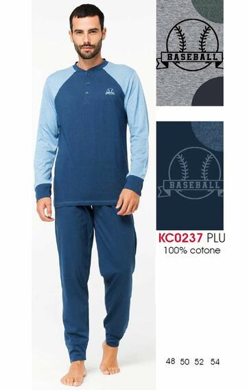 Pigiama uomo manica lunga in cotone Karelpiu' KC0237 - CIAM Centro Ingrosso Abbigliamento