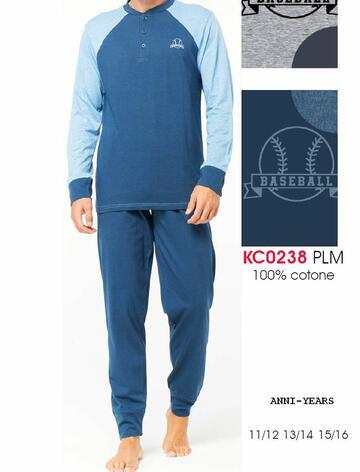 Pigiama sottouomo a manica lunga in cotone Karelpiu' KC0238 - CIAM Centro Ingrosso Abbigliamento