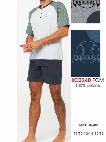 Pigiama sottouomo corto in cotone Karelpiu' KC0240 - CIAM Centro Ingrosso Abbigliamento