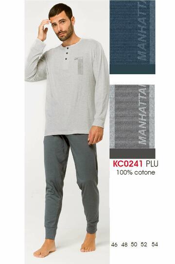 Pigiama uomo manica lunga in cotone Karelpiu' KC0241 - CIAM Centro Ingrosso Abbigliamento