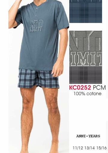 Pigiama sottouomo corto in cotone Karelpiu' KC0252 - CIAM Centro Ingrosso Abbigliamento