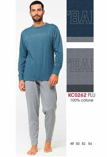 Pigiama uomo manica lunga in cotone Karelpiu' KC0262 - CIAM Centro Ingrosso Abbigliamento