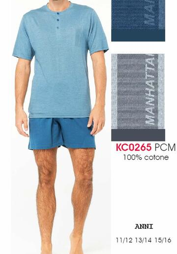 Pigiama sottouomo corto in cotone Karelpiu' KC0265 - CIAM Centro Ingrosso Abbigliamento