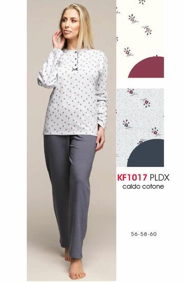 Pigiama donna in cotone caldo Karelpiu' calibrato KF10173 - CIAM Centro Ingrosso Abbigliamento