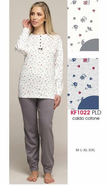 Pigiama donna in cotone caldo Karelpiu' KF1022 - CIAM Centro Ingrosso Abbigliamento
